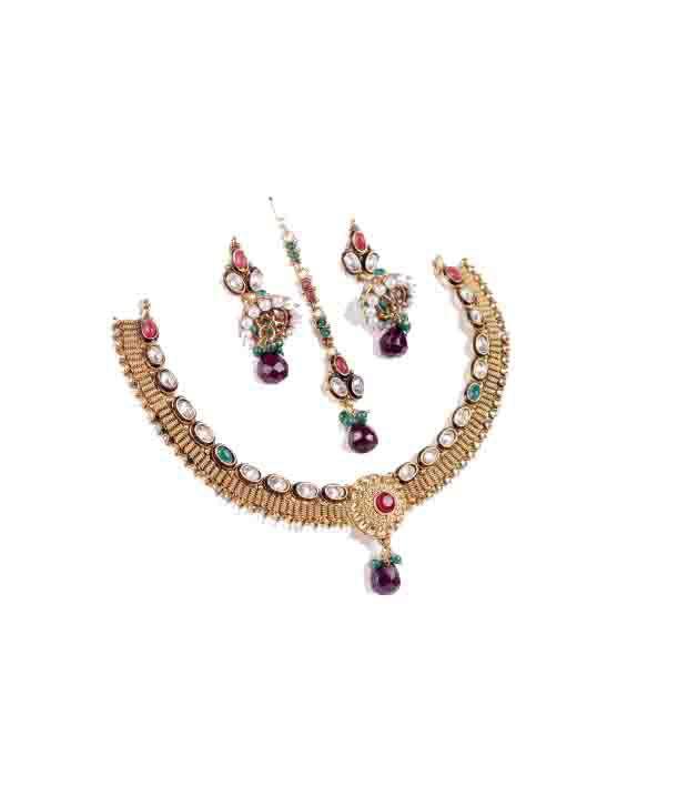 Kunda Alloy Party Necklaces & Sets