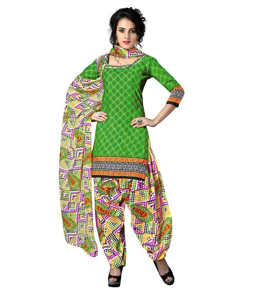 Rudra Fashion Multi Cotton Unstitched Dress Material