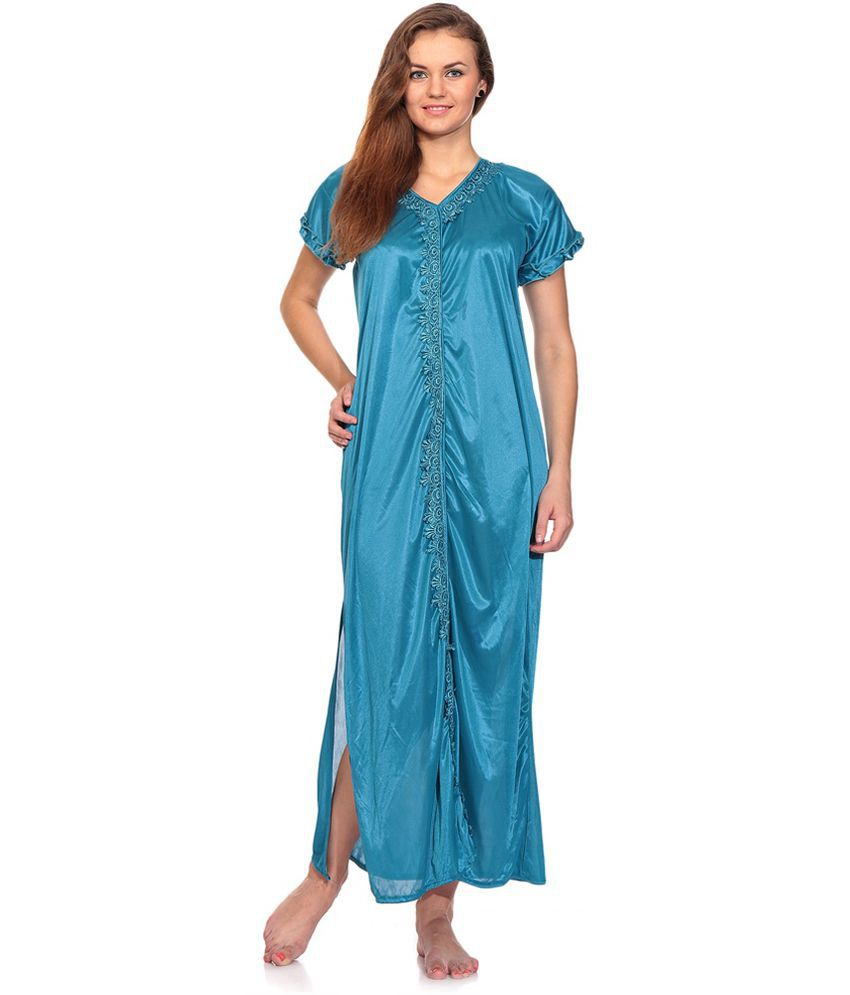 3000c13bfa Buy first lady Blue Satin Nighty Online at Best Prices in India - Snapdeal