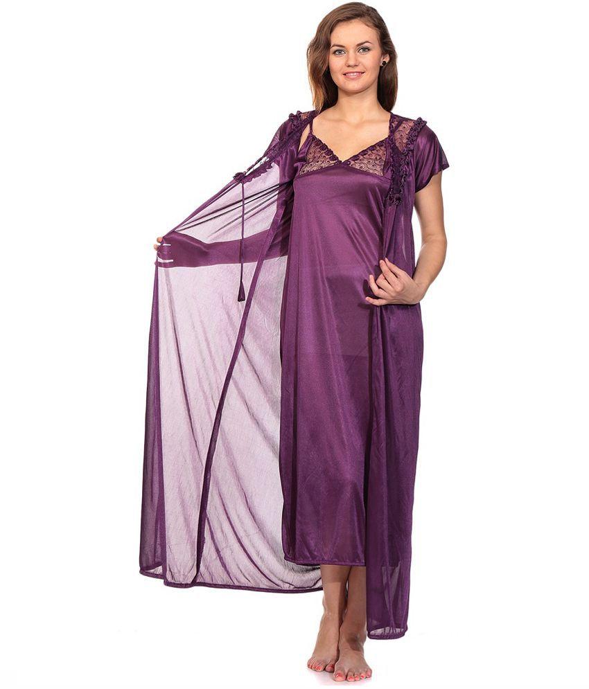 first lady Purple Satin Nighty