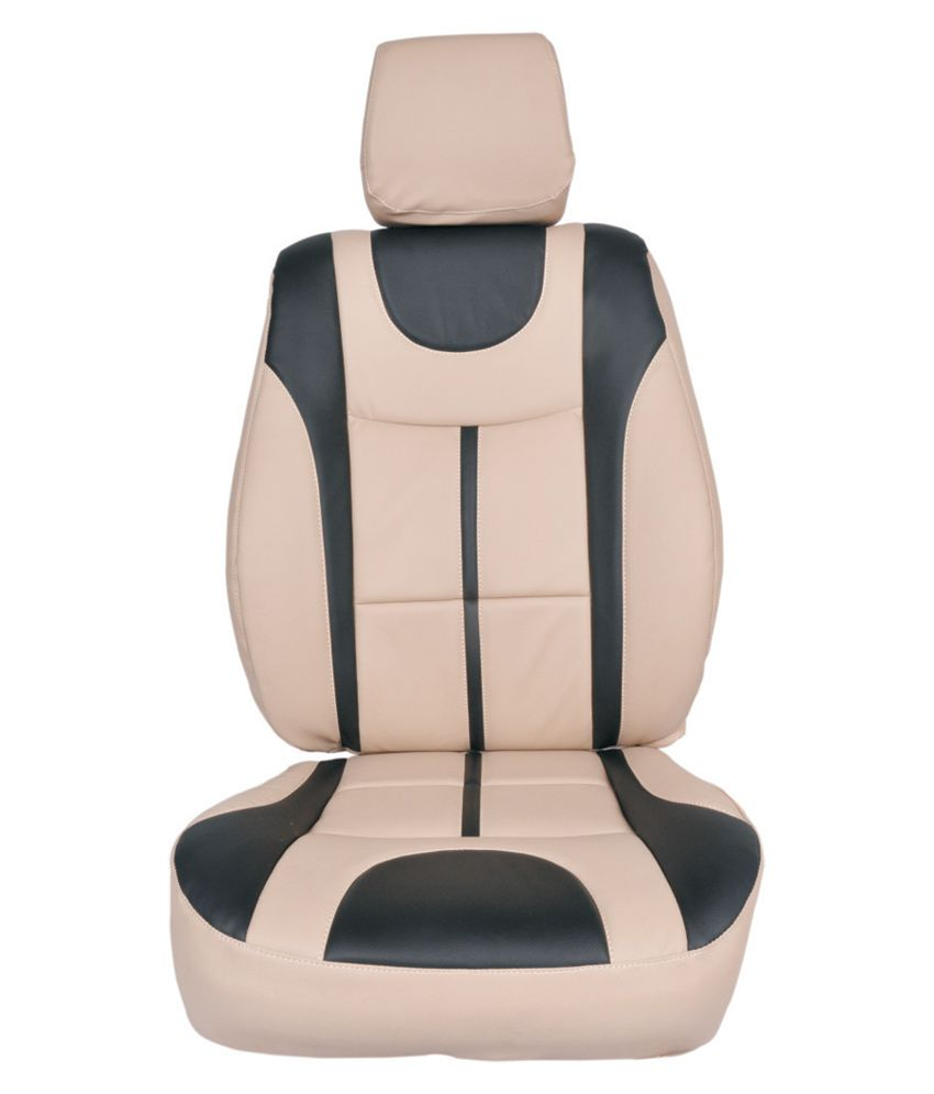 Appeal Car Seat Cover For Chevrolet Beat U Plus Design In Beige With