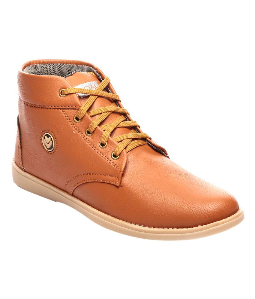 Goalgo Tan Leather Boots