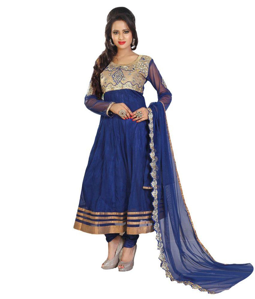 Jamboree Blue Dress Material