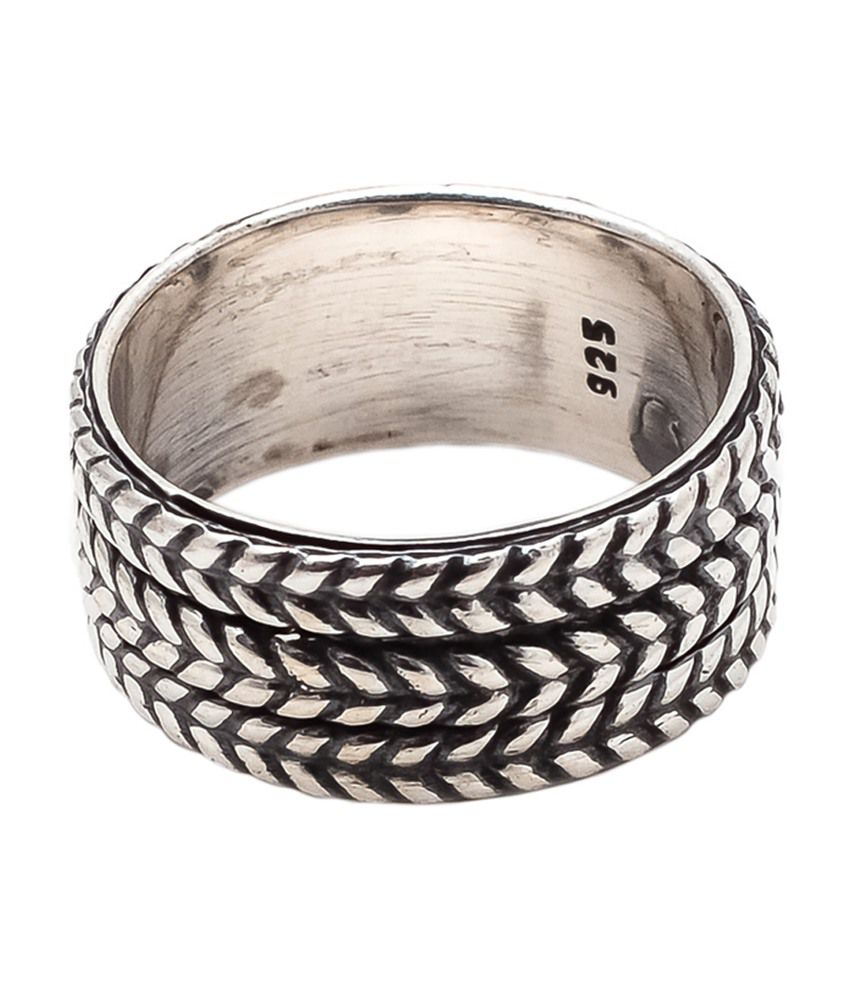 Silvantra 9.31 Grams Comfort-fit 92.5 Sterling Silver Ring