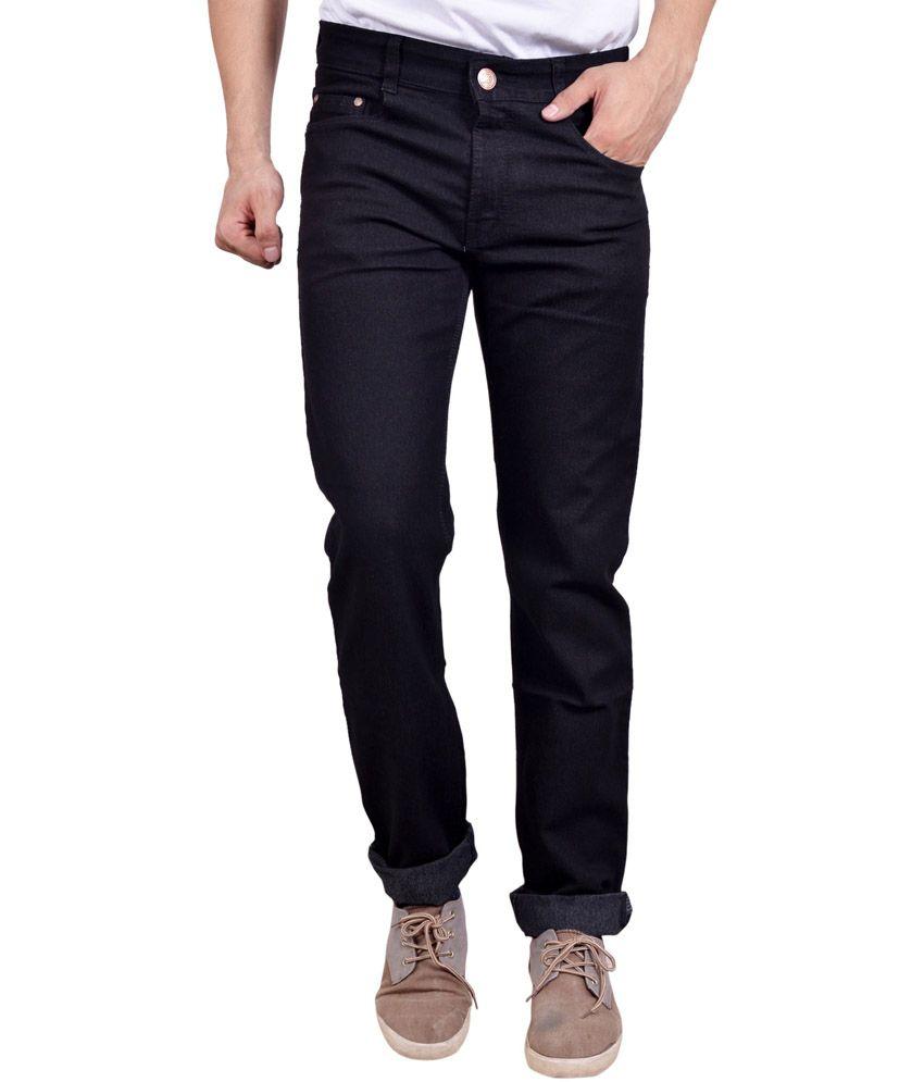 Studio Nexx Black Cotton Regular Fit Jeans
