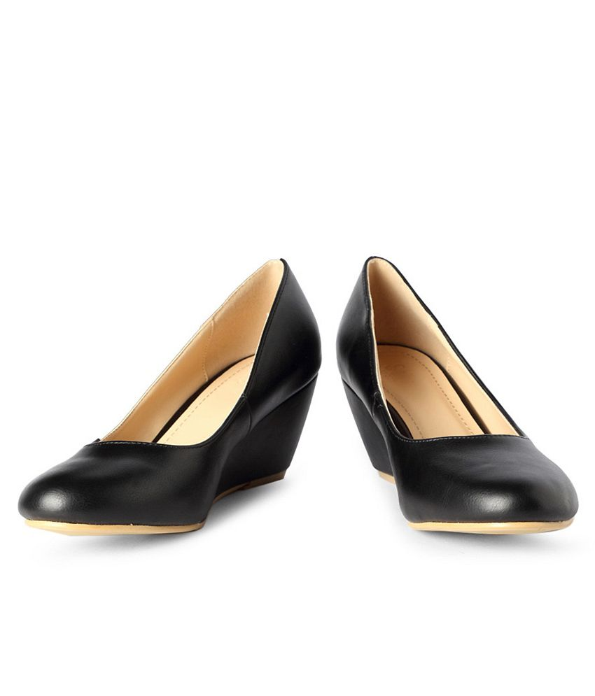 Allen Solly Black Business Casual Wedges