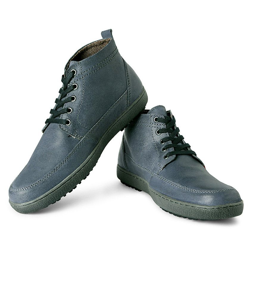 Allen Solly Grey Leather Boots