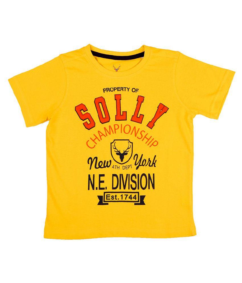 allen solly yellow graphic logo tee buy allen solly