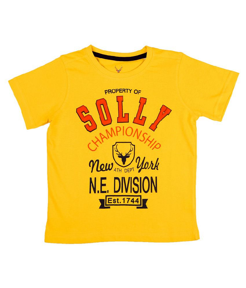 Allen Solly Yellow Graphic Logo Tee