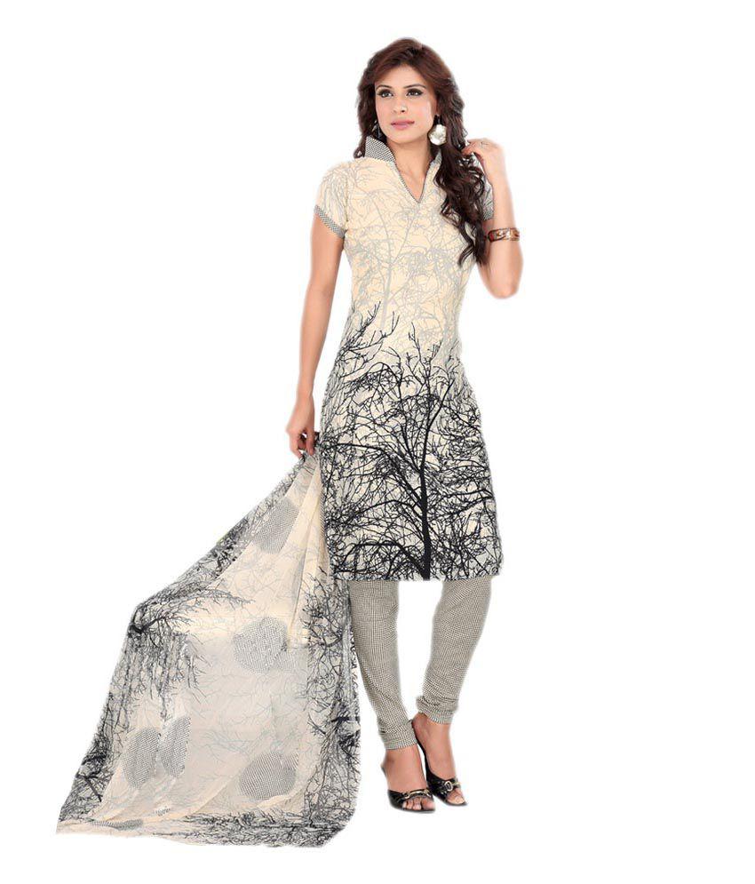 Dilwaa Multicolour Art Crepe Printed Regular Dress Material