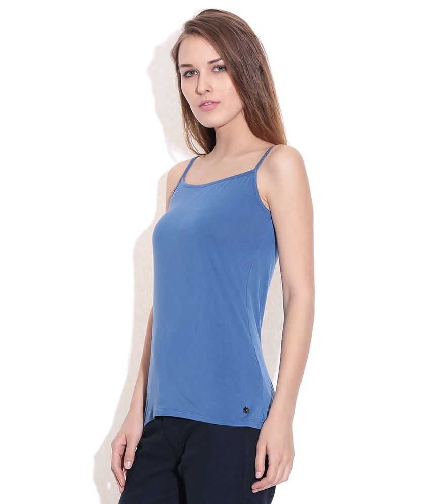2903212a66 Sisley Blue Solid Spaghetti Top - Buy Sisley Blue Solid Spaghetti Top Online  at Best Prices in India on Snapdeal