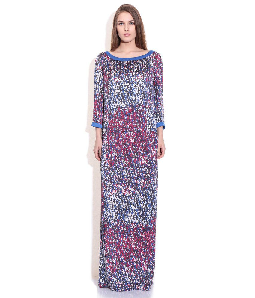 58810f75d9 Sisley Multi Color Printed Maxi Dress - Buy Sisley Multi Color Printed Maxi  Dress Online at Best Prices in India on Snapdeal