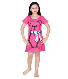 Red Ring Pink Cotton Nightwear