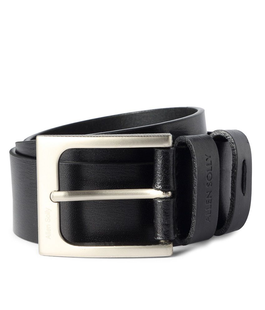 Allen Solly Black Formal Leather Belt