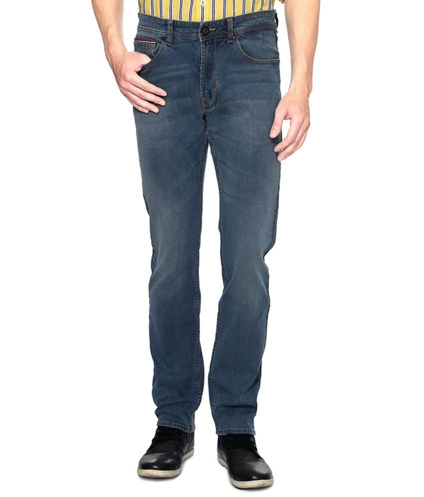 Peter England Blue Regular Fit Jeans