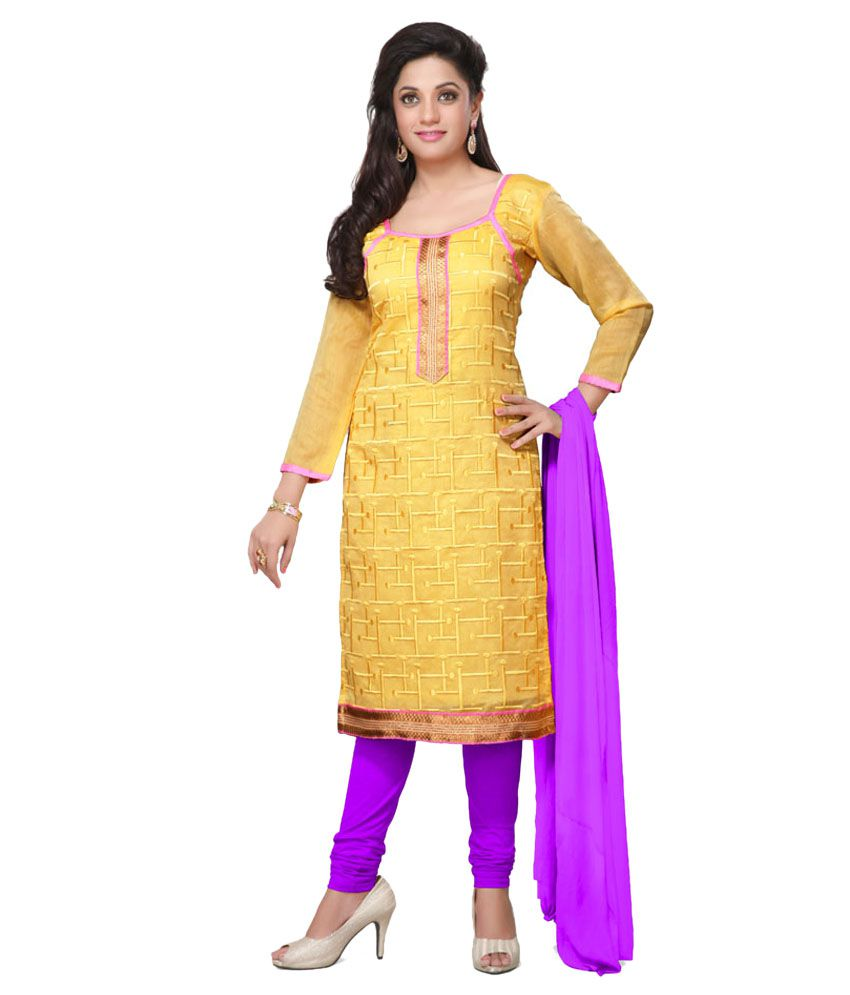 462cb4f2f2 Style Holich Latest Orange Churidar Dress Material - Buy Style Holich  Latest Orange Churidar Dress Material Online at Best Prices in India on  Snapdeal