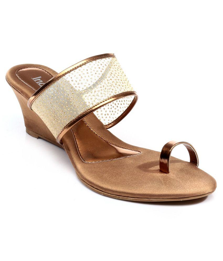 Inc.5 Golden Medium Heeled Slip On