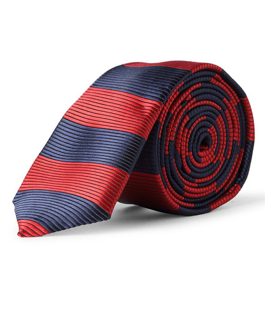 Peter England Red And Blue Tie