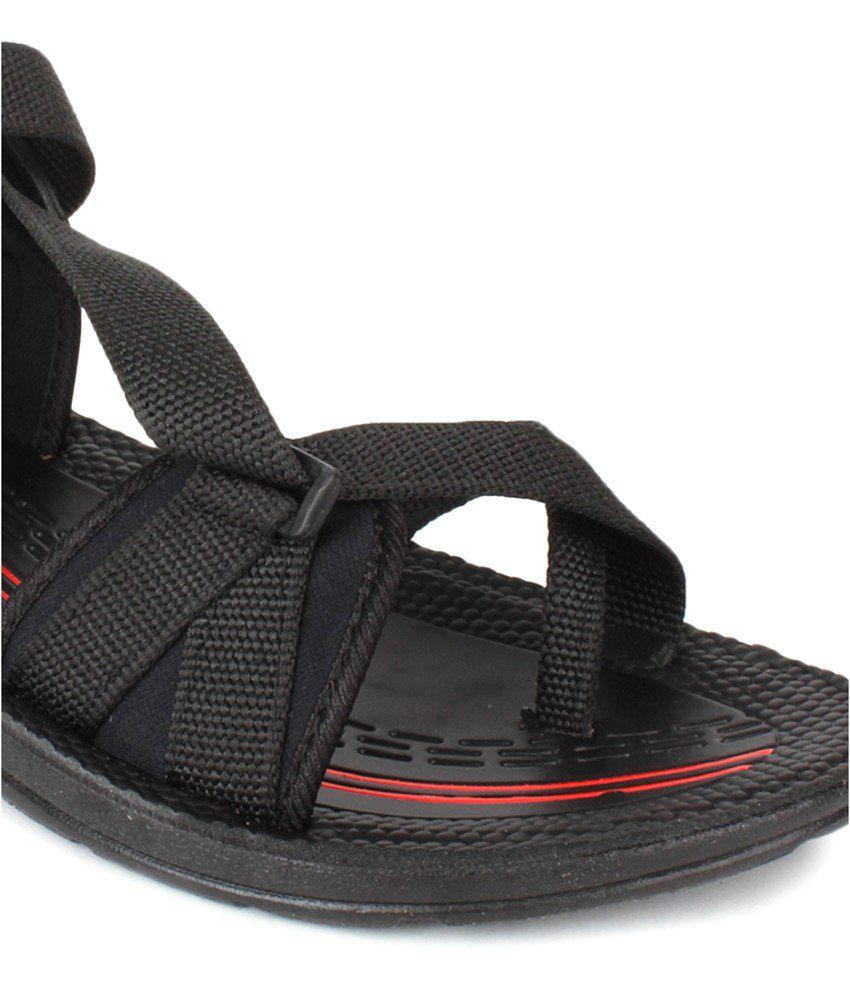 Black mesh sandals -  Columbus Black Floater Sandals