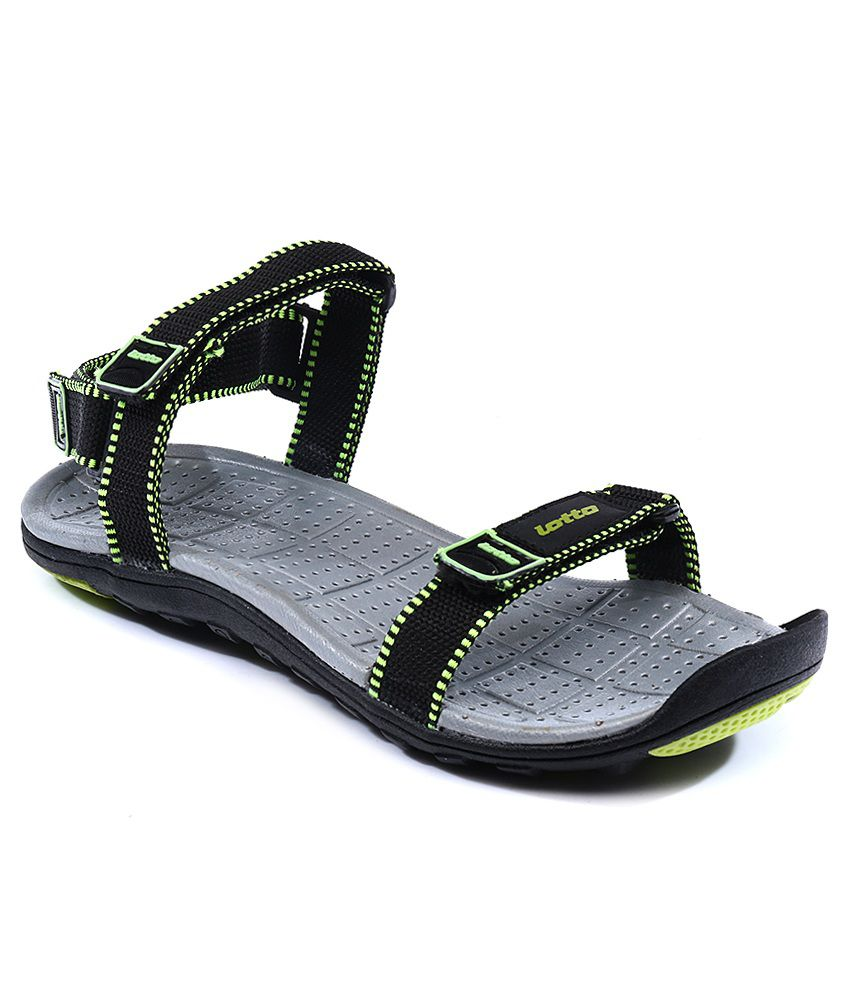 f7fa325ec9b5 Lotto Aldo Black Lime Flip Flops Price in India- Buy Lotto Aldo Black Lime Flip  Flops Online at Snapdeal
