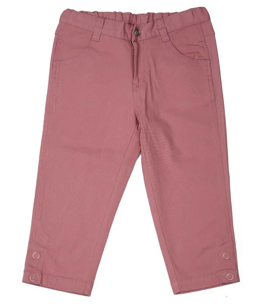 Ovo Pink Cotton Capris