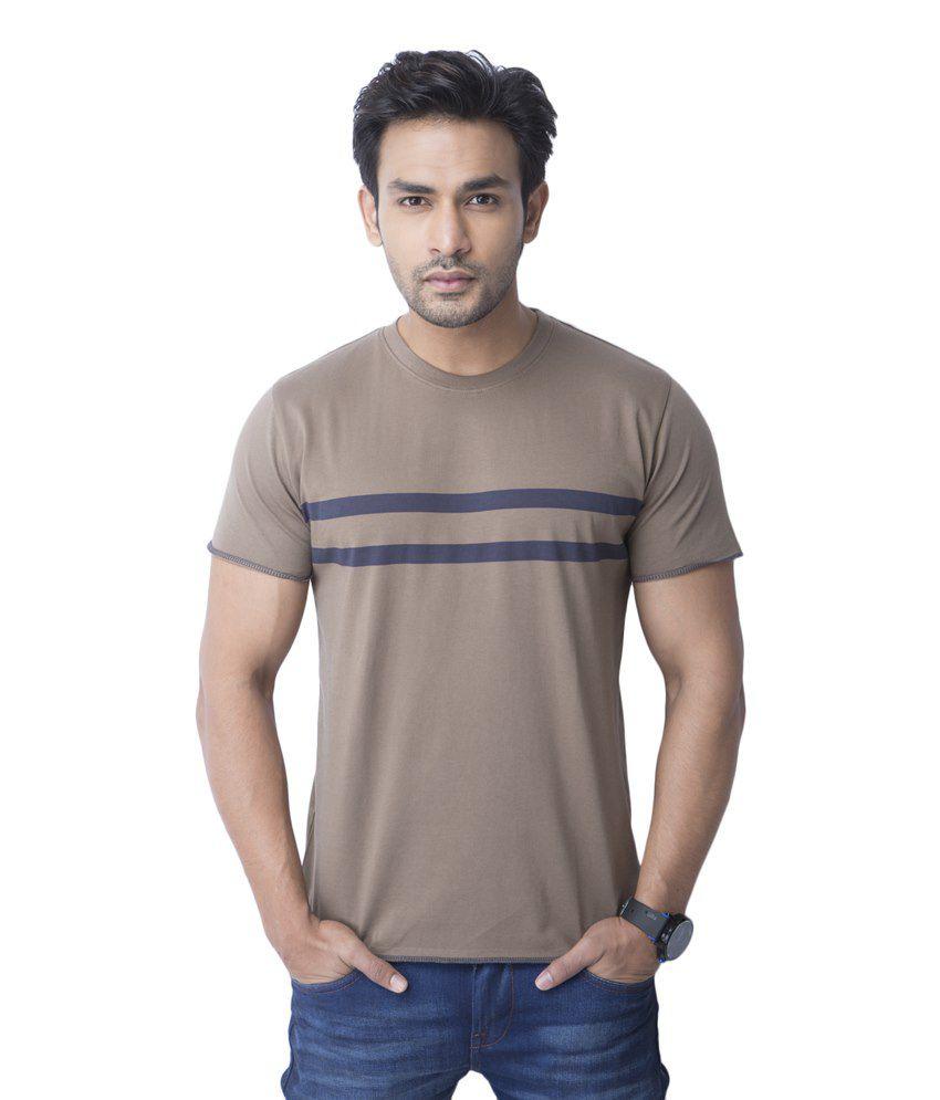 Cult Fiction Brown Cotton T Shirt