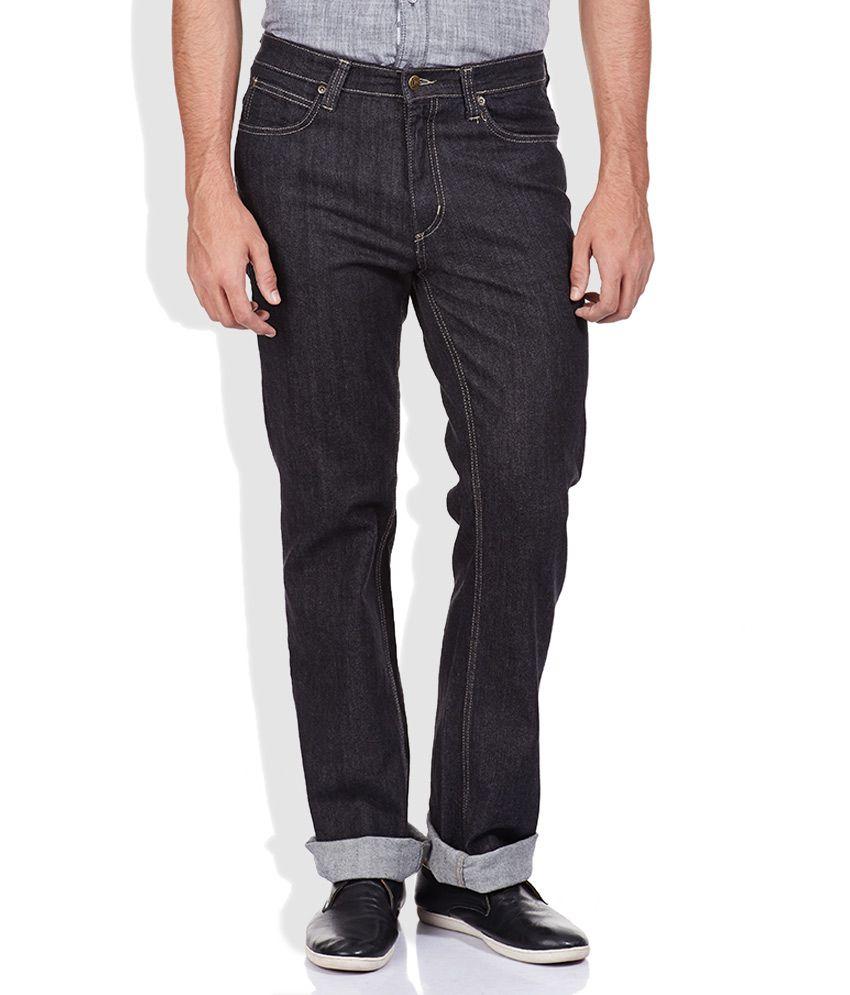 Lee Black Regular Fit Jeans