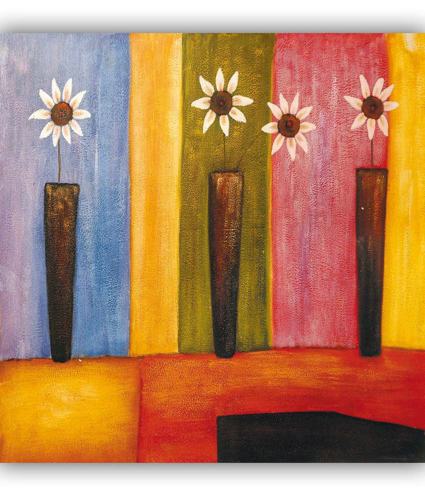 Vitalwalls Modern Flower Oil Painting Canvas Premium