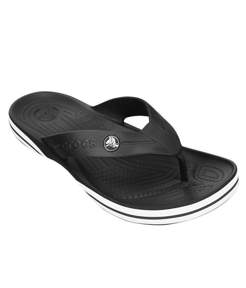 Crocs Black Slippers & Flip Flops Relaxed Fit