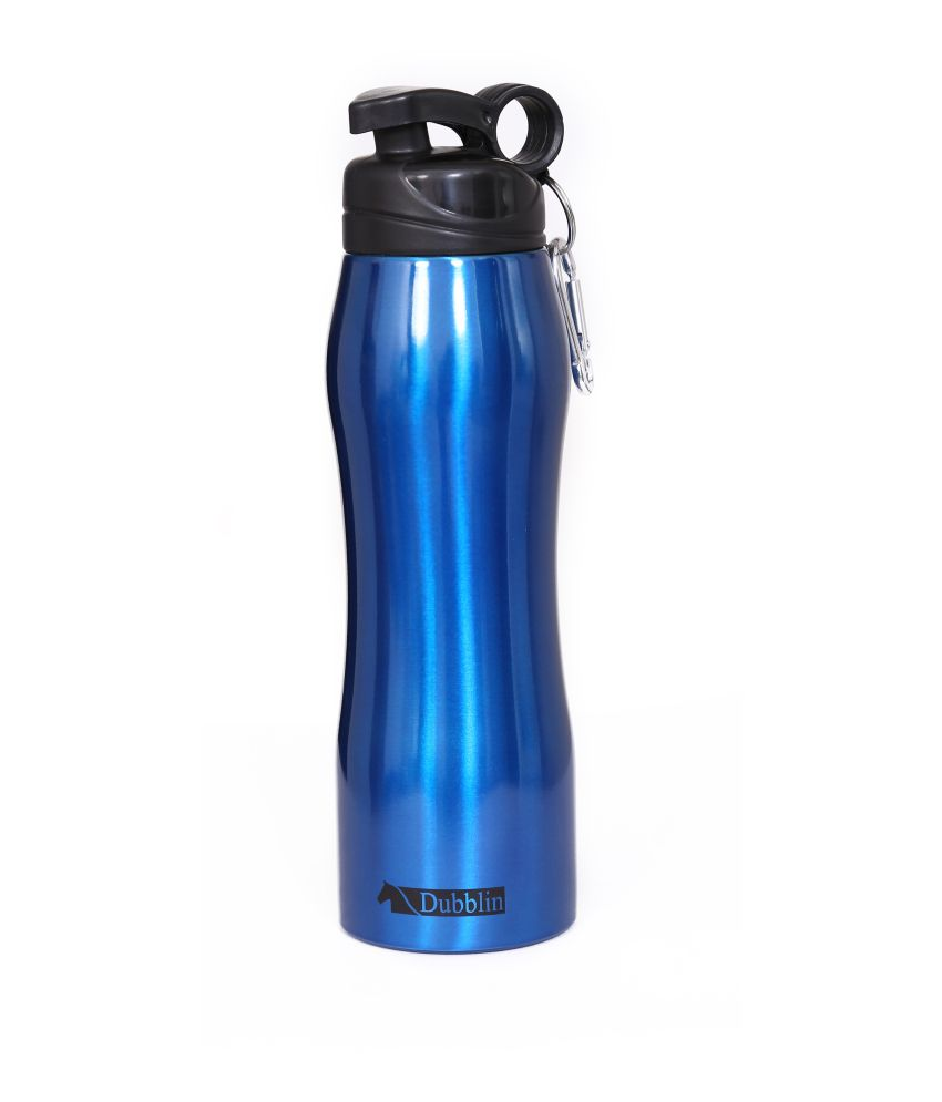 Sports Sipper Bottle: Dubblin Handy Blue Duro Stainless Steel Only COLD Sports