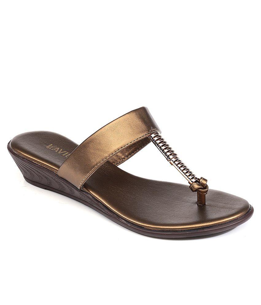 Lavie Brown Heeled Slip-On
