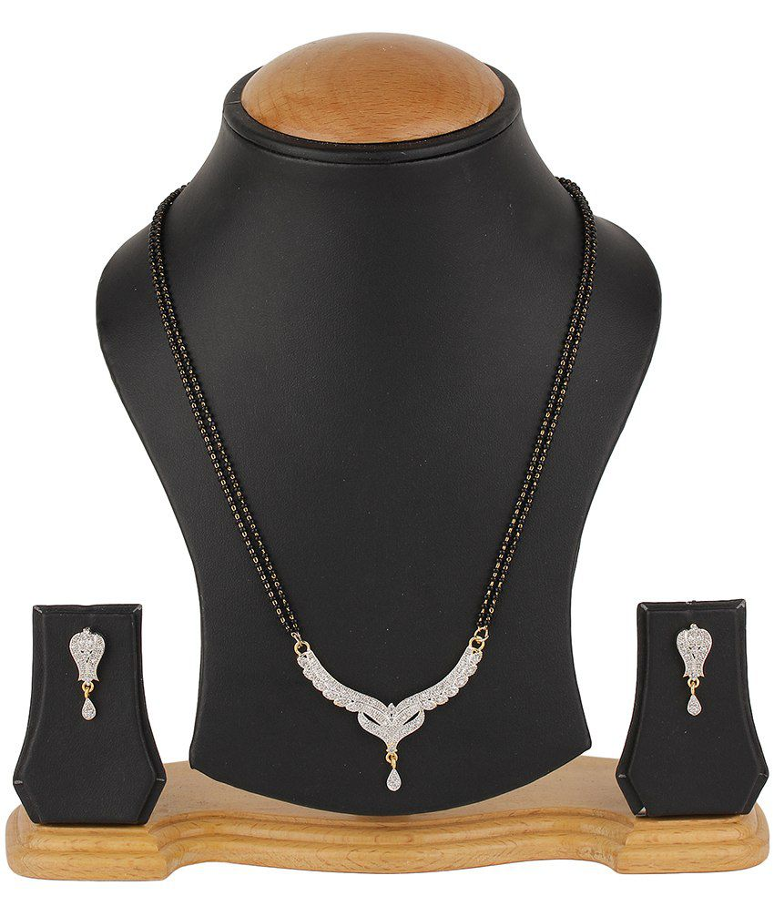 Natraj Art Alloy American Diamond Mangalsutra Set