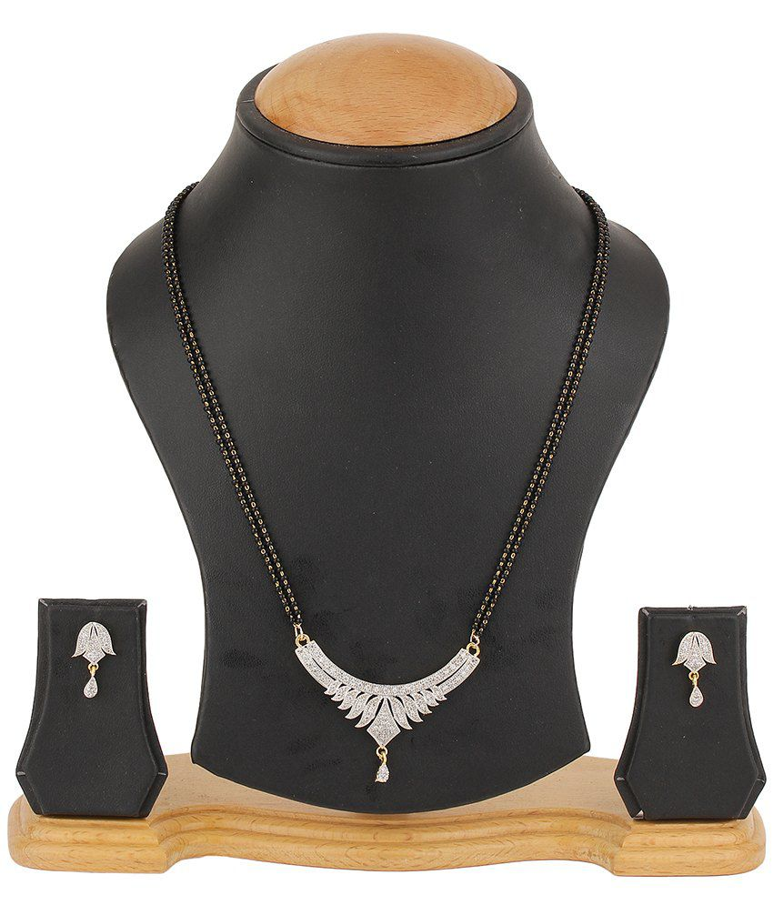 Natraj Art Alloy American Diamond Mangalsutra Set