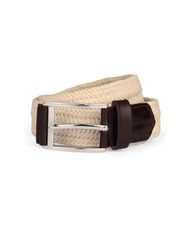 Louis Philippe White Non Leather Belt