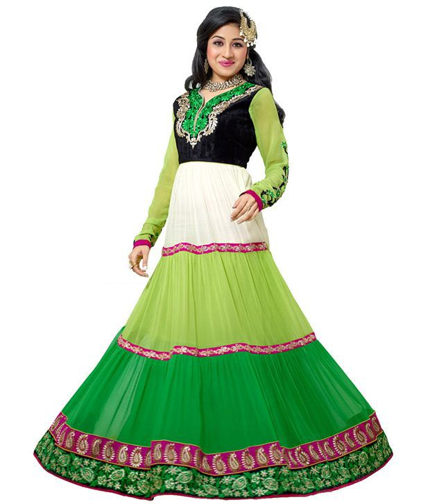 Radhe Creation Multi Art Crepe Unstitched Dress Material