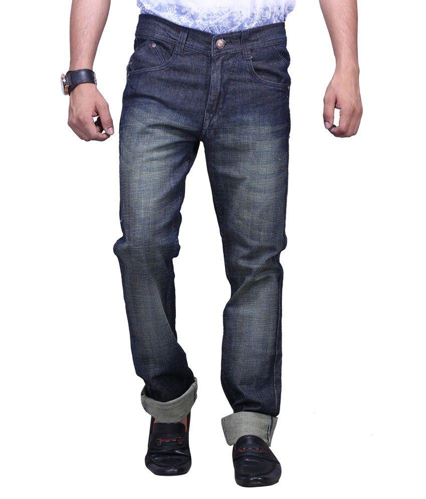 X-cross Blue Denim Regular Fit Jeans