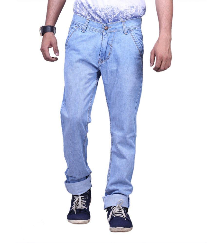 X-cross Ice Blue Denim Regular Fit Jeans