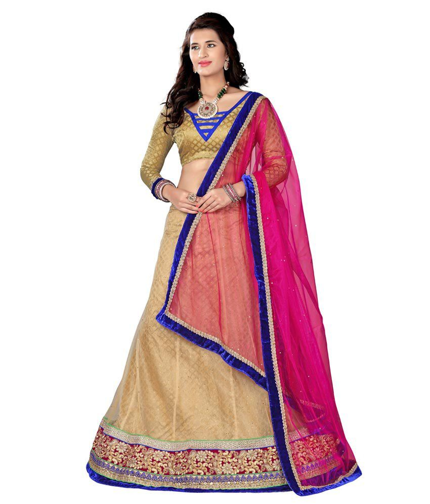 afd96cc64a5 Aasvaa Pink and Beige Net A-line Semi Stitched Lehenga - Buy Aasvaa Pink  and Beige Net A-line Semi Stitched Lehenga Online at Best Prices in India  on ...