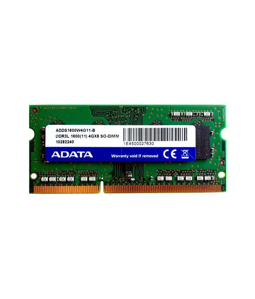 adata adds1600w4g11 r 4 gb ddr3 ram buy adata adds1600w4g11 r 4 gb