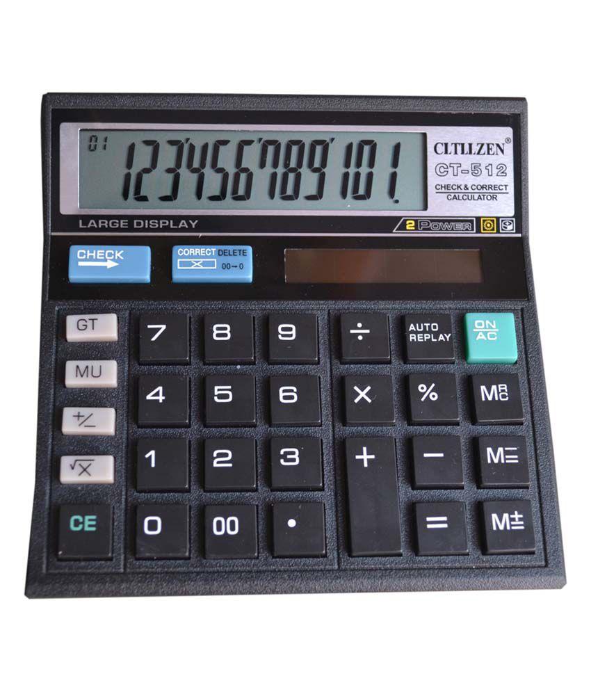 Cltllzen Ct-512 Basic Black Calculator 12 Digit - Pack Of 3