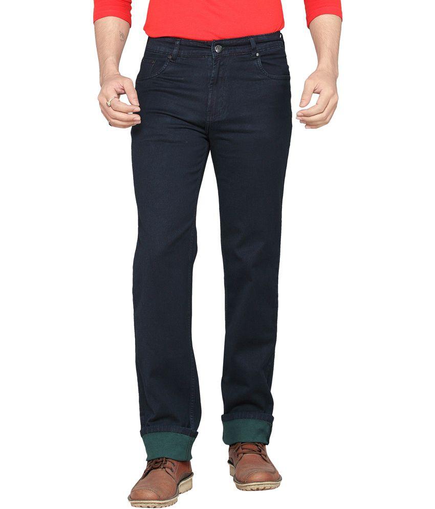 Dragaon Jeans Green Cotton Blend Regular Jeans
