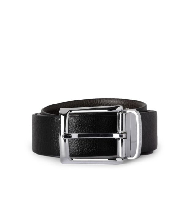 Louis Philippe Black Leather Belt