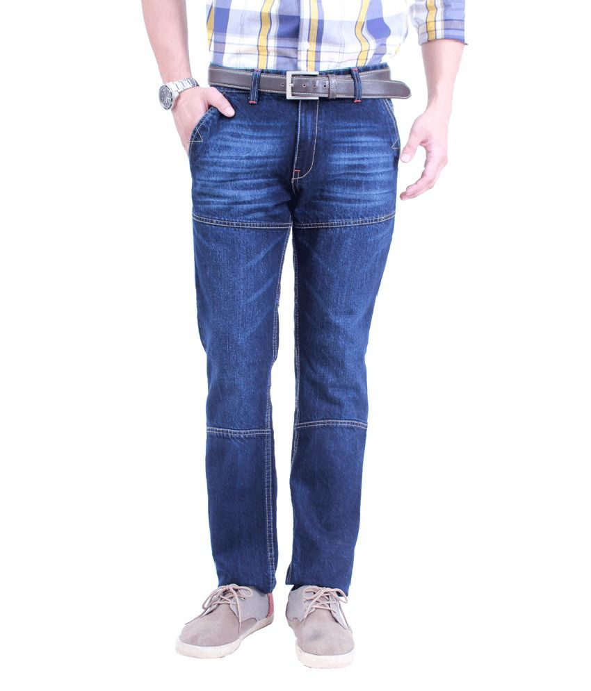 Uber Urban 100% Cotton Slim Fit Jeans for Men