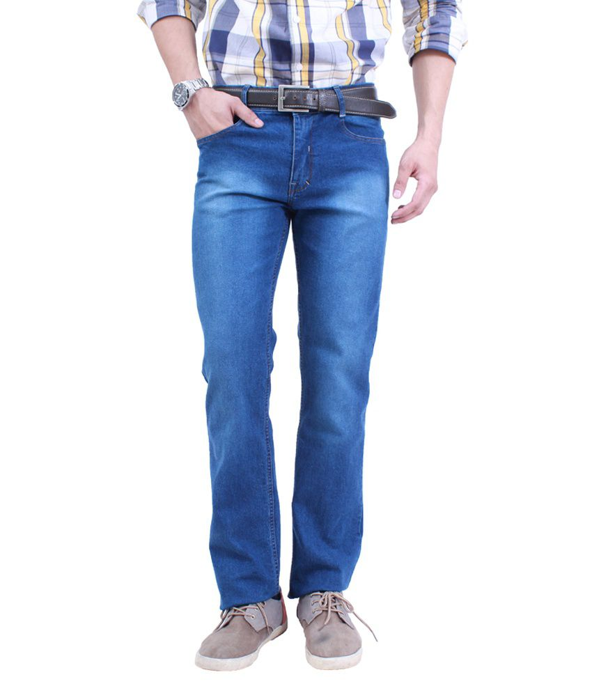 Uber Urban 100% Poly Cotton Regular Fit Jeans For Men
