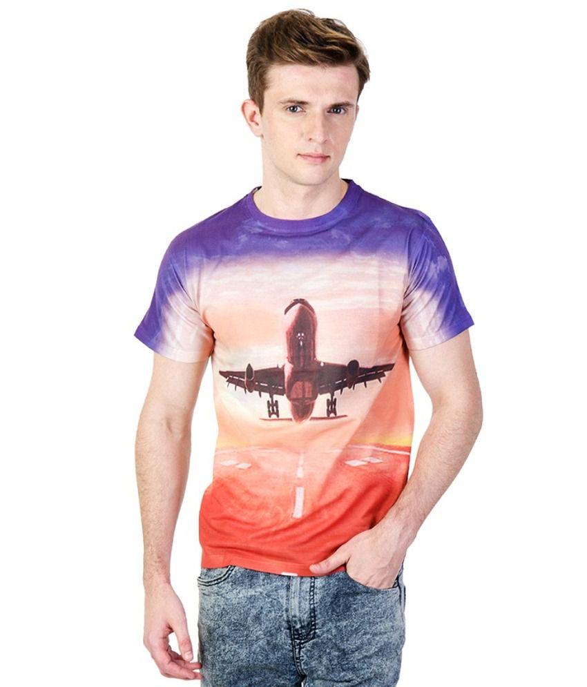 Ushirts 3D Effect Printed T-Shirt - Orange