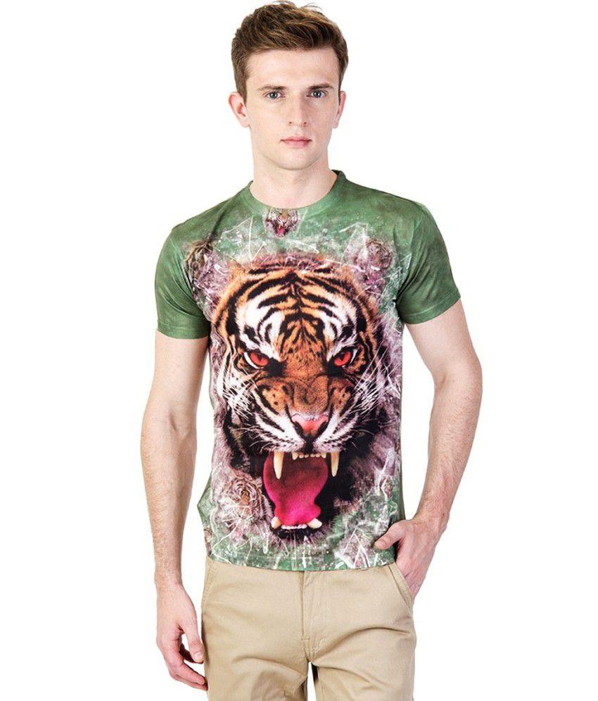 Ushirts 3D Effect Printed T-Shirt - Green