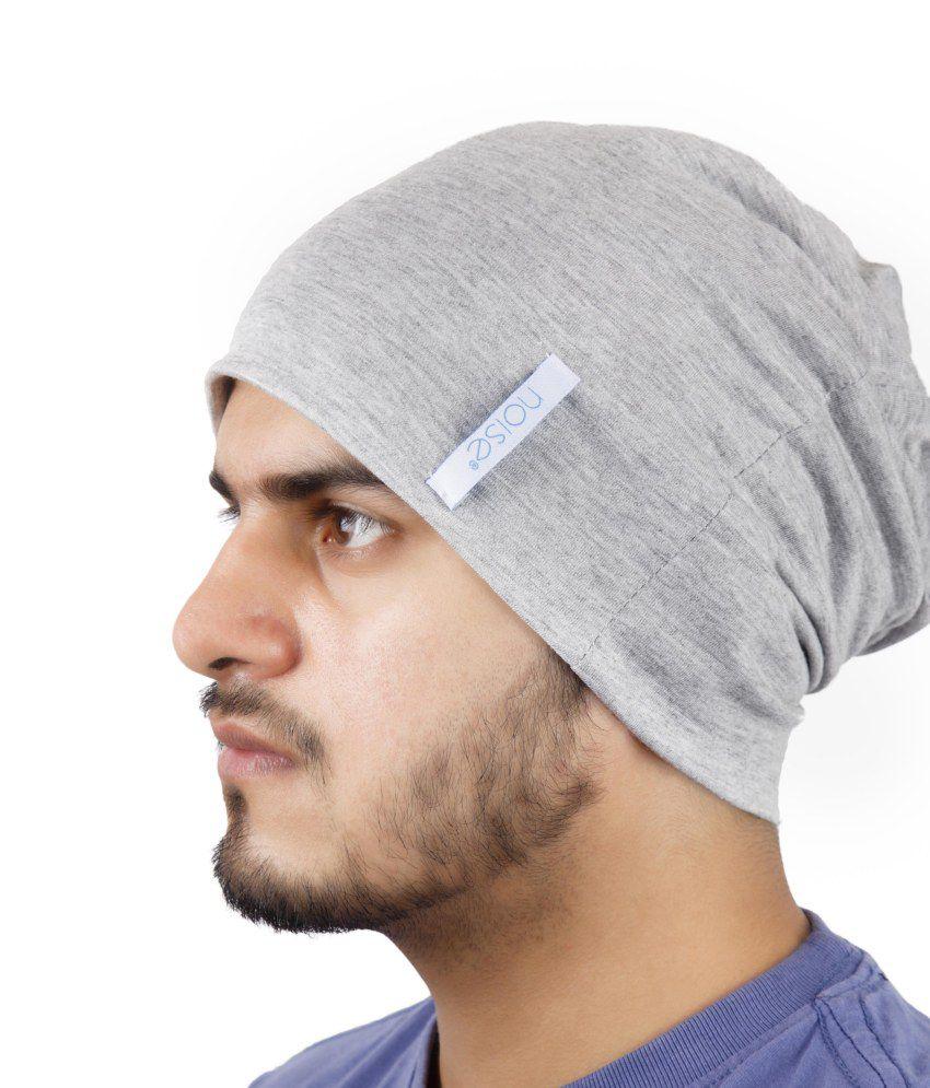 Noise Grey Cotton Skull Cap - Buy Online   Rs.  856476ecba2