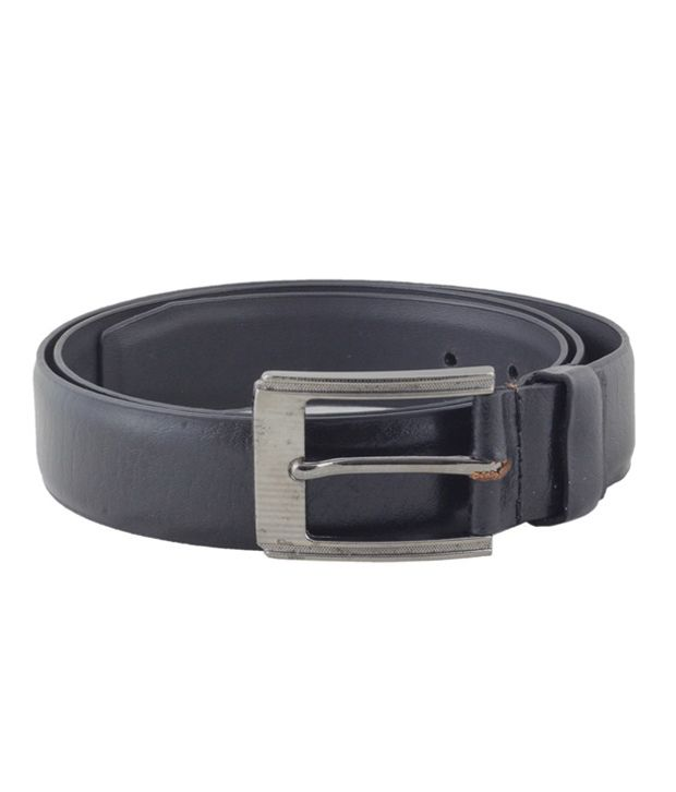 Shiven Good Quality Black Formal Leather and Pu Belt