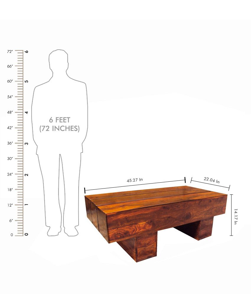 Solid Wood Coffee Table Online India: Solid Wood Log Coffee Table