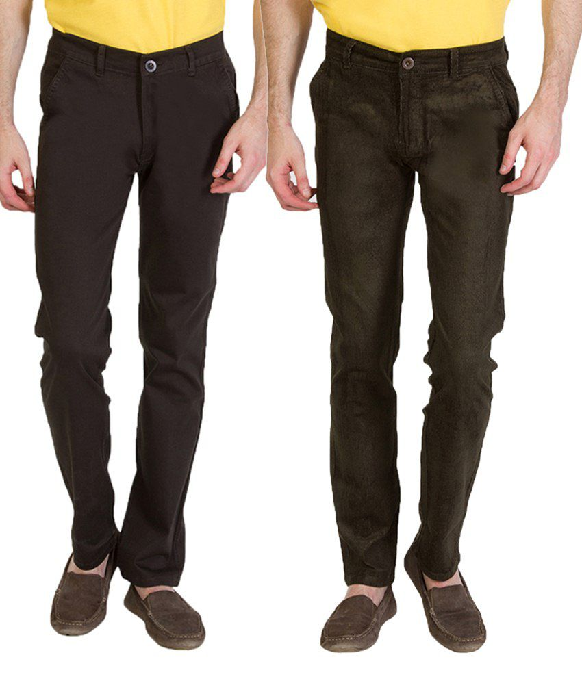 Bloos Jeans Amazing Combo Of 2 Brown Chinos For Men